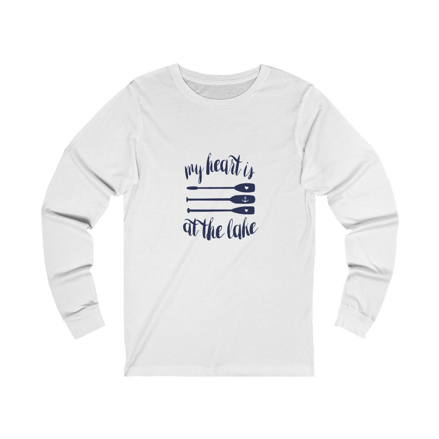 My Heart is at the Lake Unisex Long Sleeve (3 Colours) - Coastal Lifestyle Fall Long Sleeves Mens Clothing Regular fit - Long-sleeve