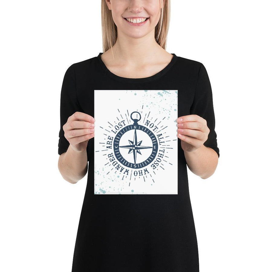 Not All Who Wander (Nautical Sea Salt Series) - Compass Navy - Home Decor