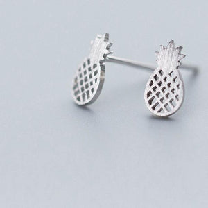 Pineapple Please Silver Studs - Accessories Coastal Lifestyle Earrings Jewellery Pineapple - Accessories