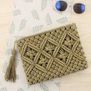 Retro Vibes Coastal-Boho Style Clutch - Accessories Bag Bag Accessories Bags Coastal Lifestyle - Accessories