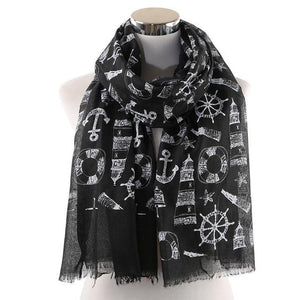 Sailor Vibes Scarf (3 Colours) - Accessories Anchor Anchor Collection Boat Buoys - Accessories