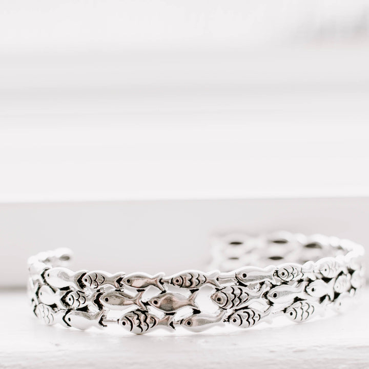 School of Fish Silver Bracelet - Accessories Bracelets Coastal Lifestyle Fish Fish & Whale Collection