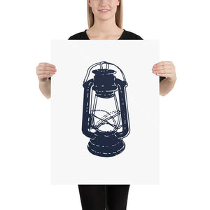 Simple Lantern (Simple Nautical Things Series) - Lantern Navy Simple Nautical Things Series - Home Decor