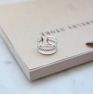 Simple Rope Silver Ring - Accessories Coastal Lifestyle Jewellery Rings Rope Knots