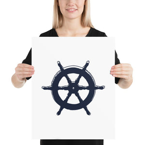 Simple Ships Wheel (Simple Nautical Things Series) - Navy Ships Wheel Simple Nautical Things Series - Home Decor