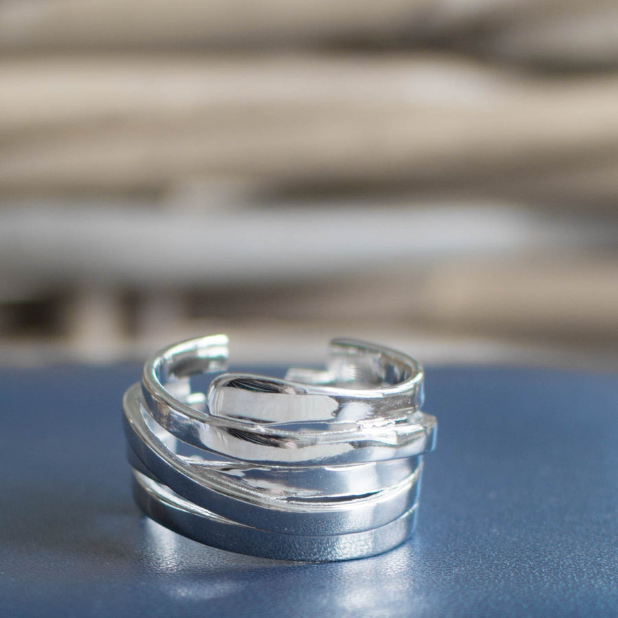 Simple Stacks Silver Ring - Accessories Coastal Lifestyle Jewellery Rings Silver - Accessories