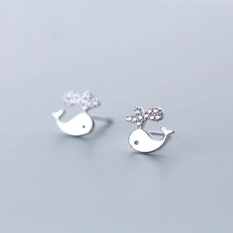 Spouting Whales Studs - Accessories Coastal Lifestyle Earrings Fish and Whale Collection Jewellery - Accessories