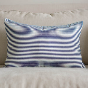 Stripes & Checks Navy Pillow Collection - Accessories Best Stripes Navy Blue Plaid Striped Collection - Home Decor