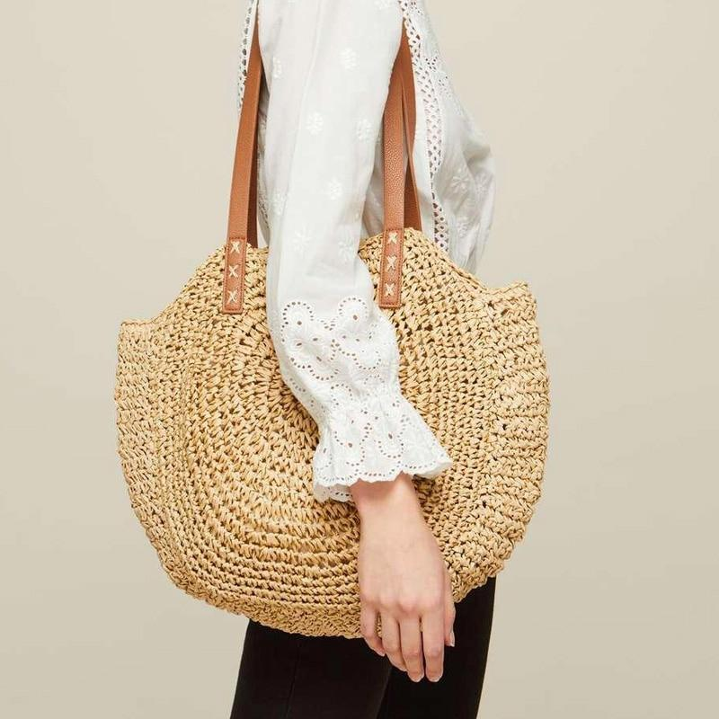 Sunny Day Large Straw Tote (3 Colours) - Accessories Bag Bags Beach Bag Blue - Accessories