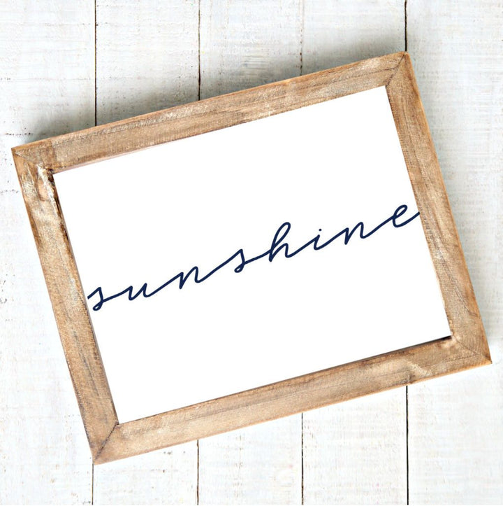 Sunshine - Modern Script - Printable Art - Downloadable,Modern - Art