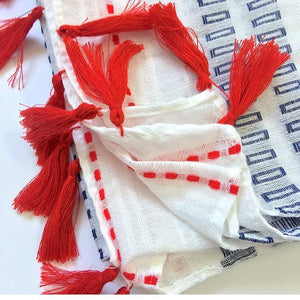 Talk Sailor to Me Scarf - Accessories Blue Coastal Lifestyle Nautical Red - Accessories