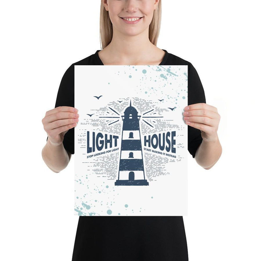 The Lighthouse (Nautical Sea Salt Series) - Lighthouse Navy - Home Decor