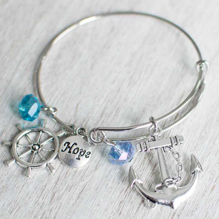 The Mariners Anchor Charm Bracelet - Anchor Anchor Collection Bracelets Jewellery Rudder - Accessories