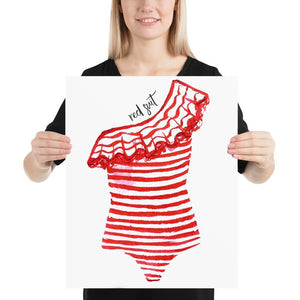 The Red Swimsuit (Nautical Fashion Series) - Best Stripes Red Striped Collection Stripes Swimsuit
