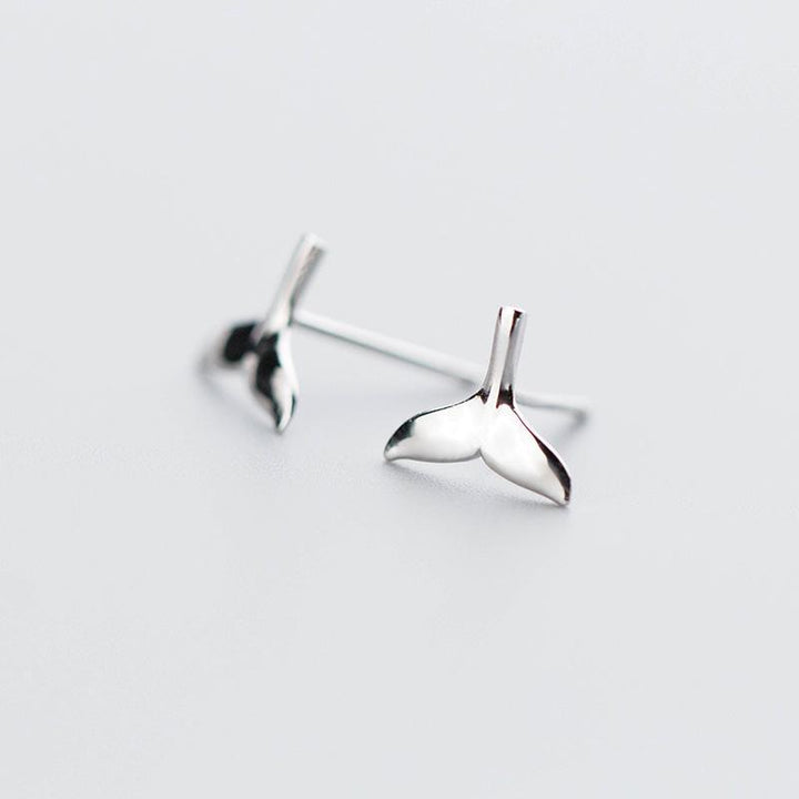 Whale Tail Silver Studs - Accessories Coastal Lifestyle Earrings Fish and Whale Collection Jewellery