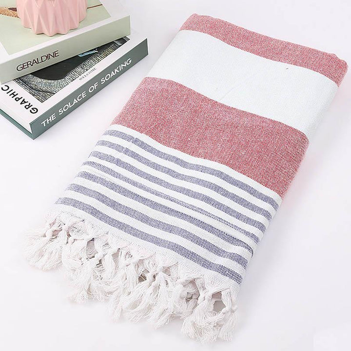 Wide Striped Cotton Turkish Towel (3 Colours) - Best Stripes Els PW 9383 Scarves Striped Striped Collection - Accessories