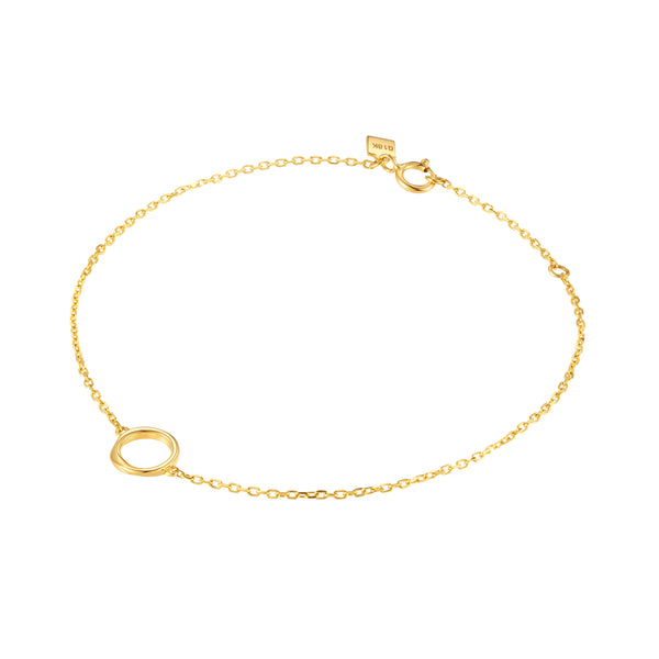 The Mobius Strip Warm Gold Chain Bracelet