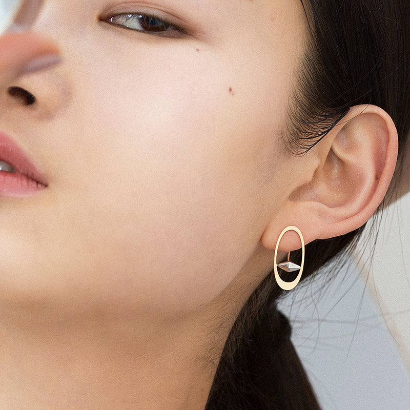 The Universe – The Ghost Ring of Saturn Earrings