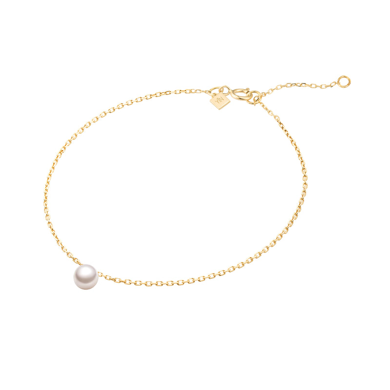 The Drop of Warm Pearl Chain Bracelet