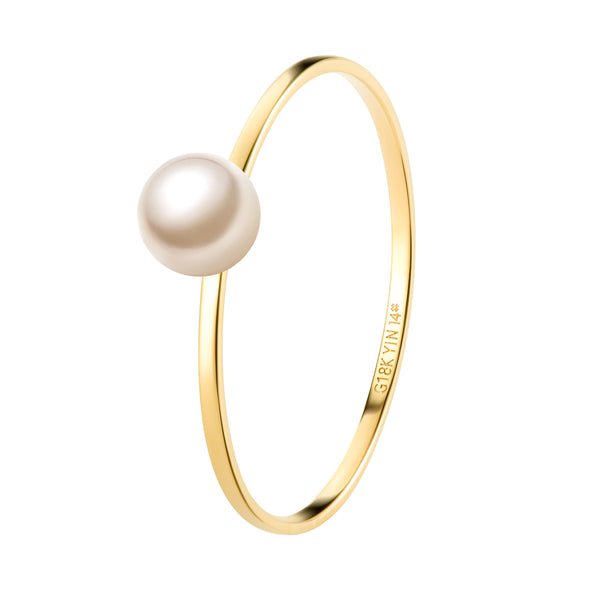 The Drop of Warm Pearl Ring