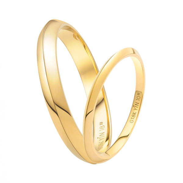 The Devotion Gold Prism Couple Rings