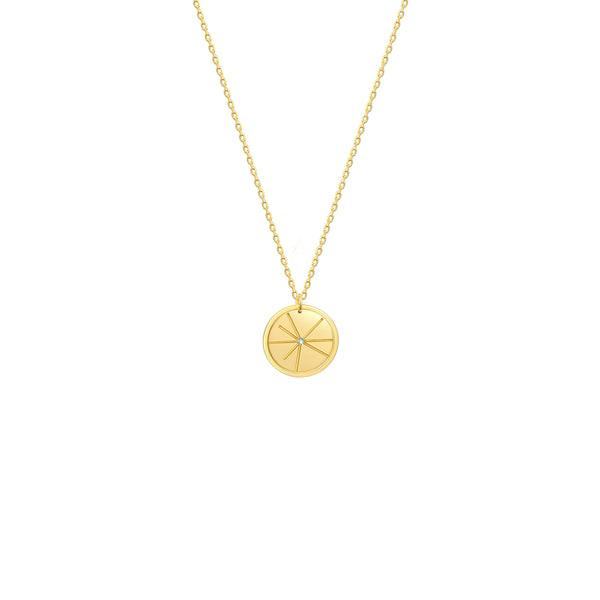 The Pulsar Coin Pendant Necklace