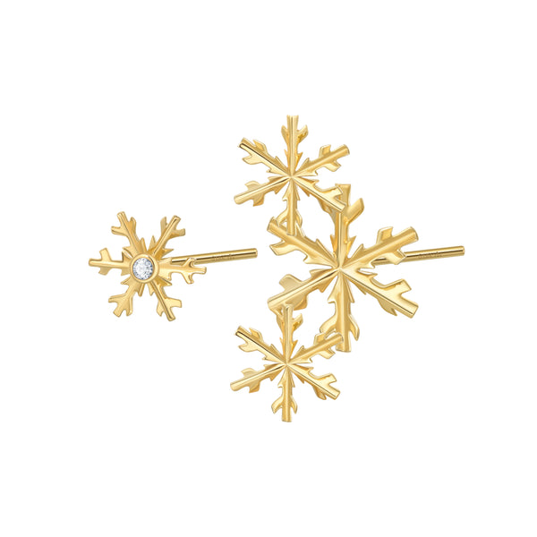 The Papercut Snowflake Earrings