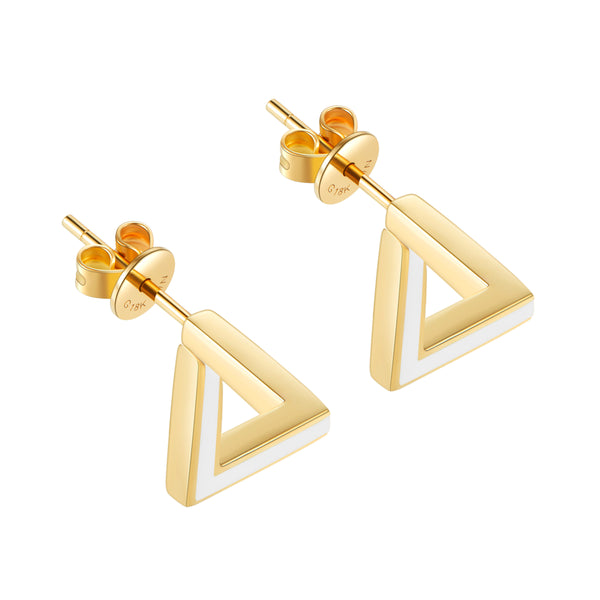 The Penrose Triangle Tridimensional Earrings