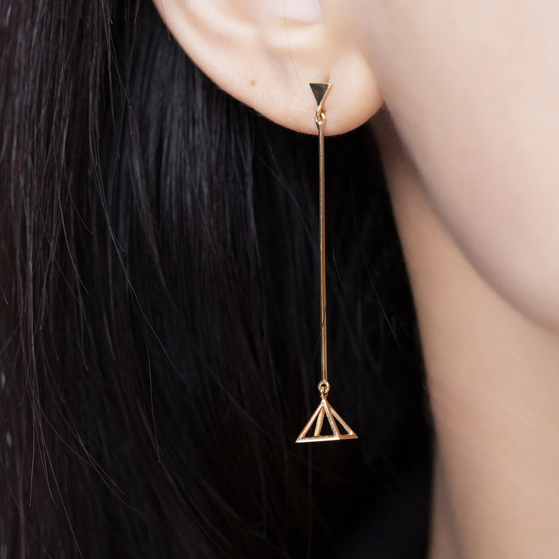 The Tiptilted Pyramid Earrings