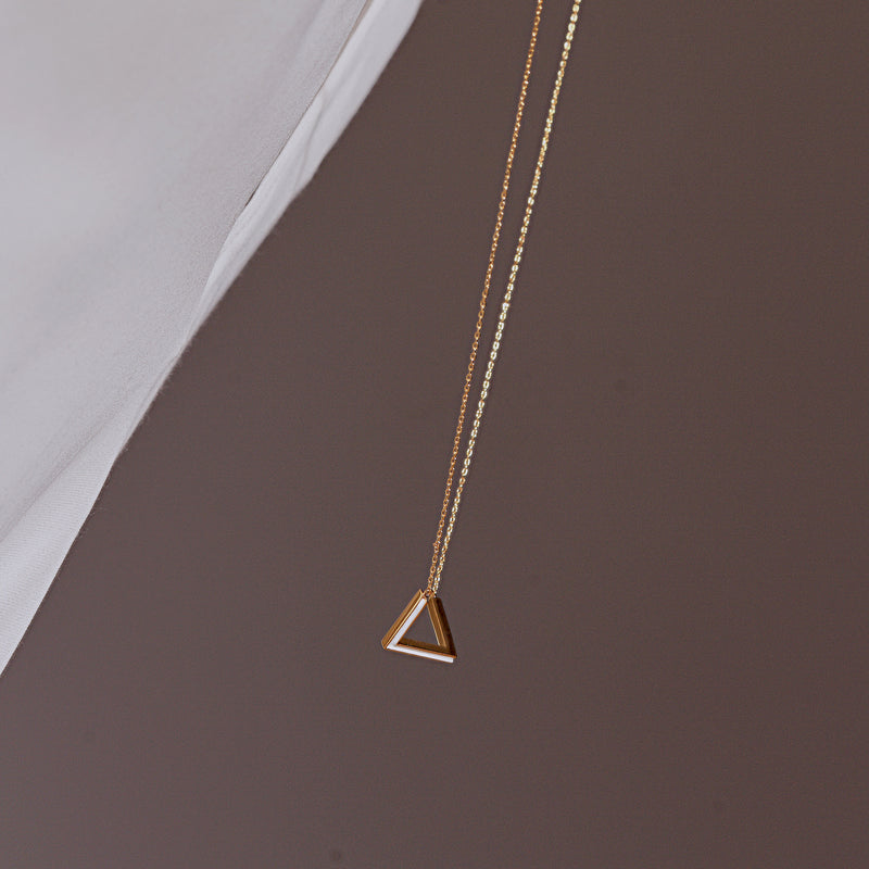 The Penrose Triangle Long Necklace