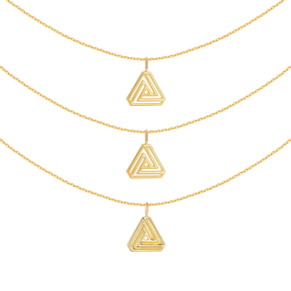 The Penrose Triangle Necklaces