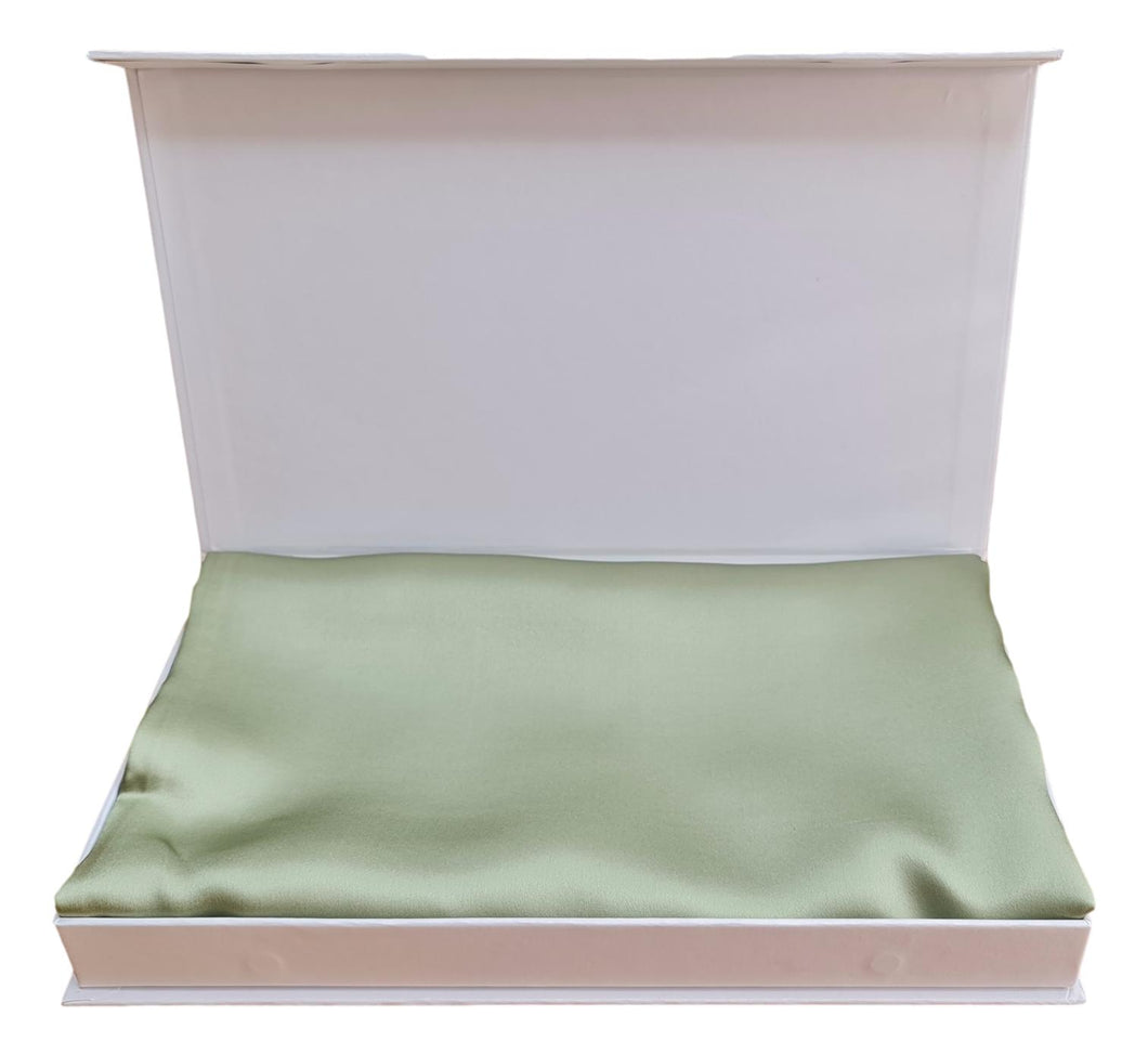 Silk Pillowcase 19mm Sage Single.