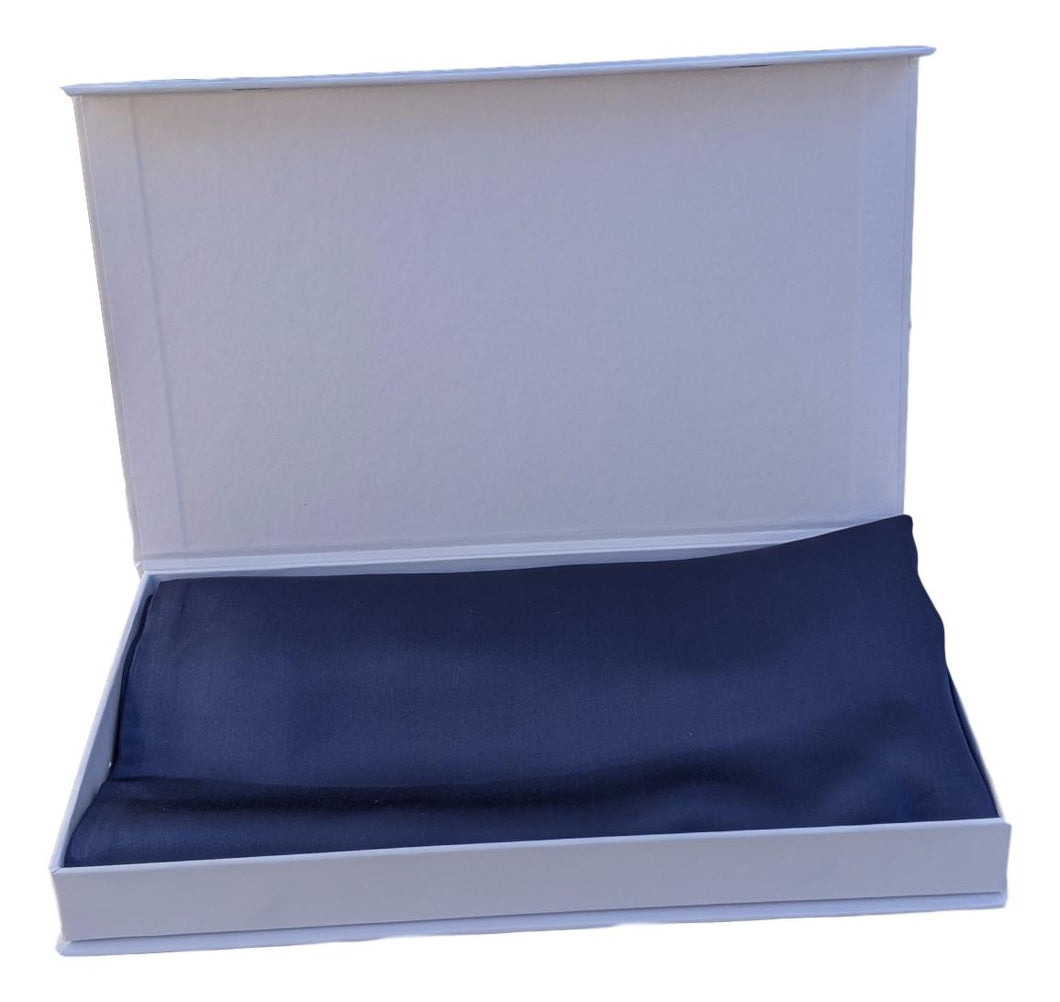 Silk Pillowcase 19mm Midnight Navy Single.