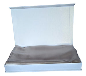 Silk Pillowcase 19mm Steel Single.