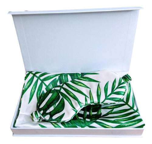 Silk Pillowcase 19mm Twin Set and Eye Mask Gift Set