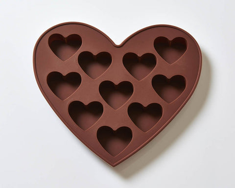10 Cavity Hearts Silicone Mould