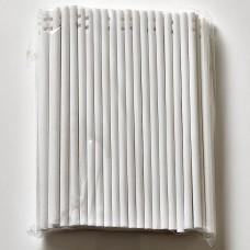 "100 x 114mm (4.5"") White Plastic Lollipop Lolly Sticks"