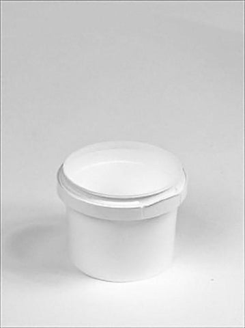 120ml White Plastic Pail Complete With White Lid