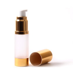 Frosted & Gold Chrome 100ml With Cap - Airless Serum Bottles