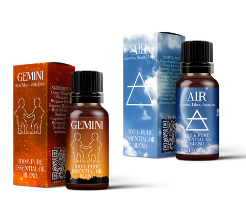 Air Element & Gemini Essential Oil Blend Twin Pack (2x10ml)
