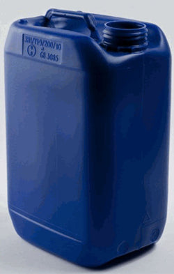 30 Litre Stackable Jerry Can Blue HDPE 61mm Neck With Black Tamper Evident Cap