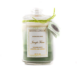 Mystix London Jungle Fever Wooden Wick Scented Jar Candle