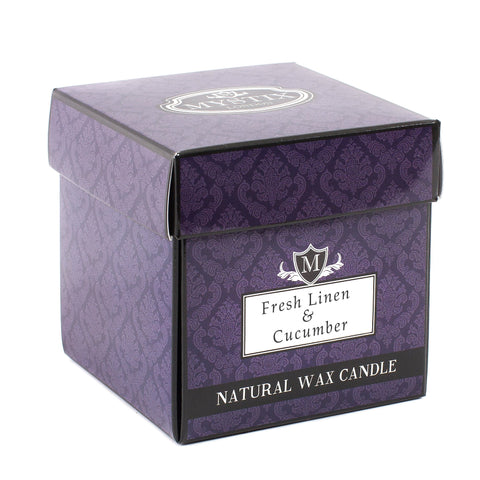 Fresh Linen & Cucumber Scented Candle - Large