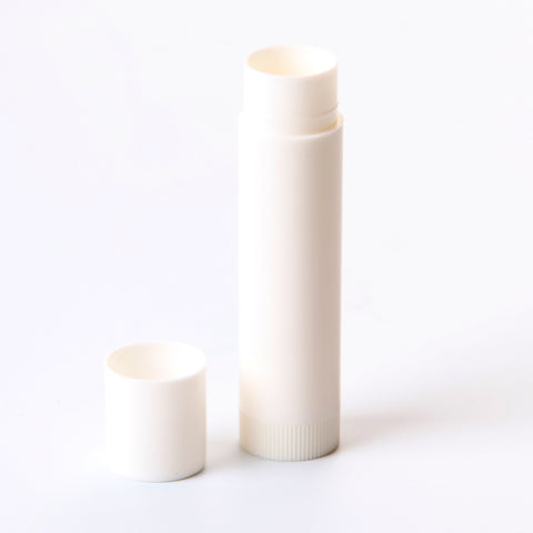 5ml Lip Balm Lipstick Twister With Push On Cap White