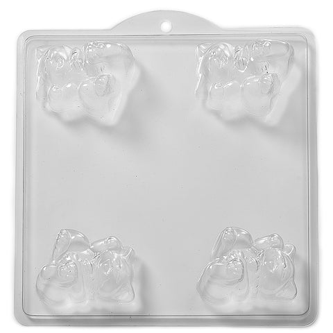 3D Cat PVC Mould (4 Cavity)