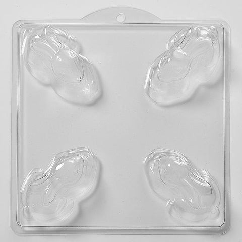 Resting Rabbit Mould (4 Cavity)