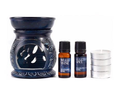 Mulled Wine and Christmas Spice Oil Burner Gift Set