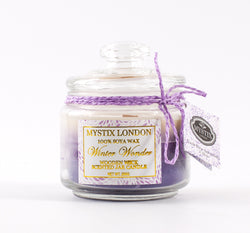 Mystix London Winter Wonder Wooden Wick Scented Jar Candle 200g