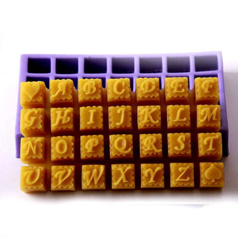 Alphabet Silicone Mould (28 Cavity)