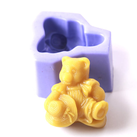 Antique Teddy Silicone Soap Mould